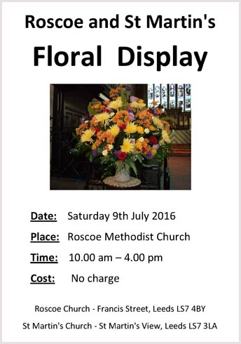 Roscoe & St Martin's Floral Display