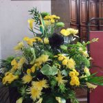 Flowers at St Martin's for Jamaica's Independence Anniversary Service