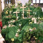 Easter Flowers in Church